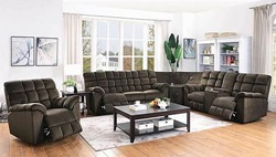 Hershey Reclining Sectional with Bluetooth Speaker