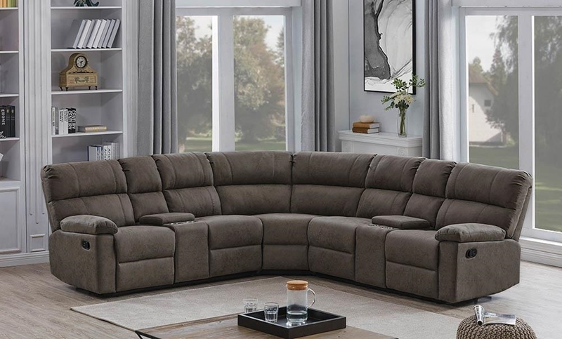 Morton Motion Sectional in Tan