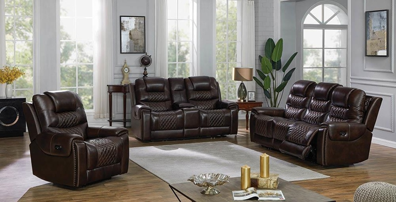 North Living Room Set in Dark Brown