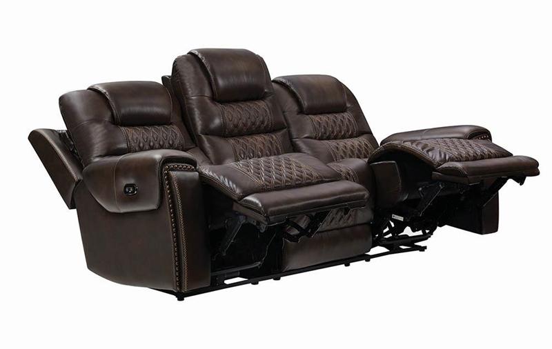 North Living Room Set in Dark Brown