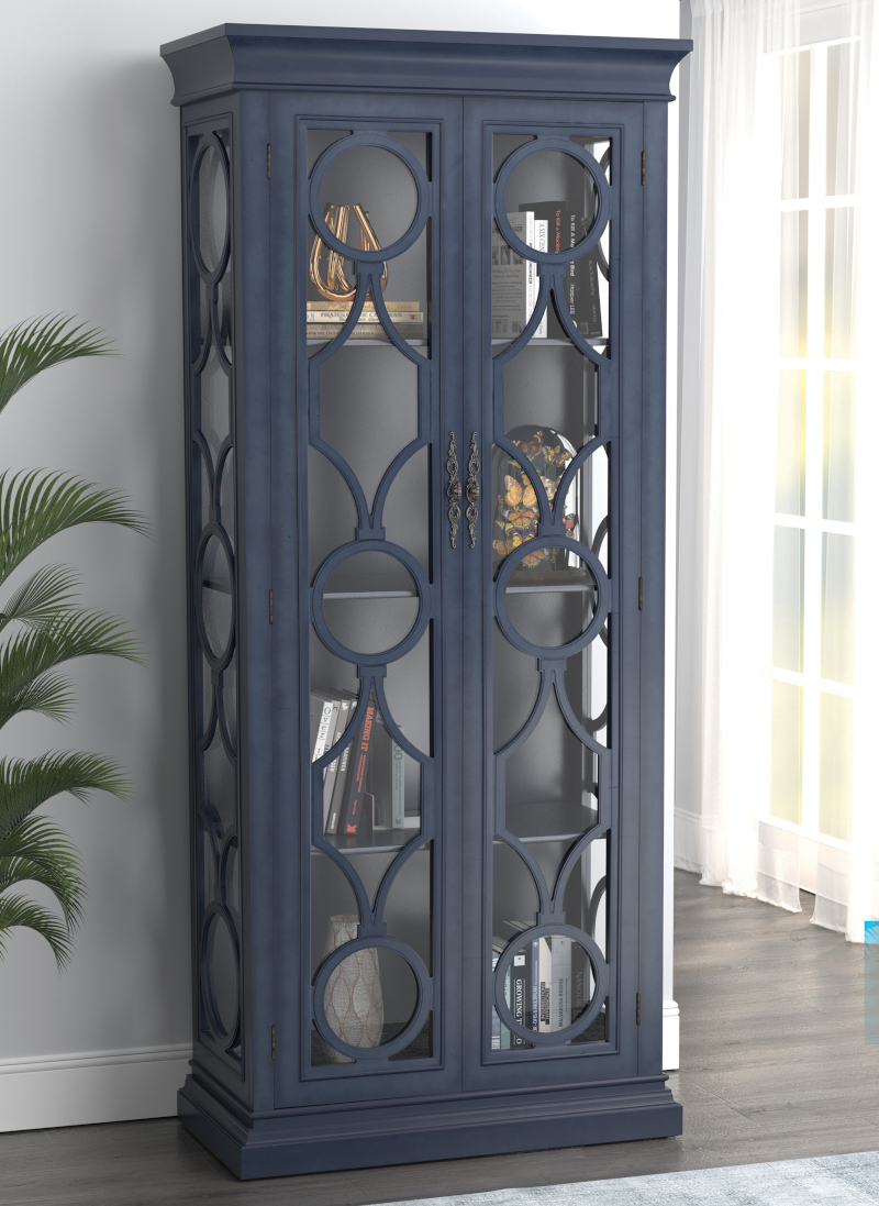 Paloma Tall Cabinet in Blue