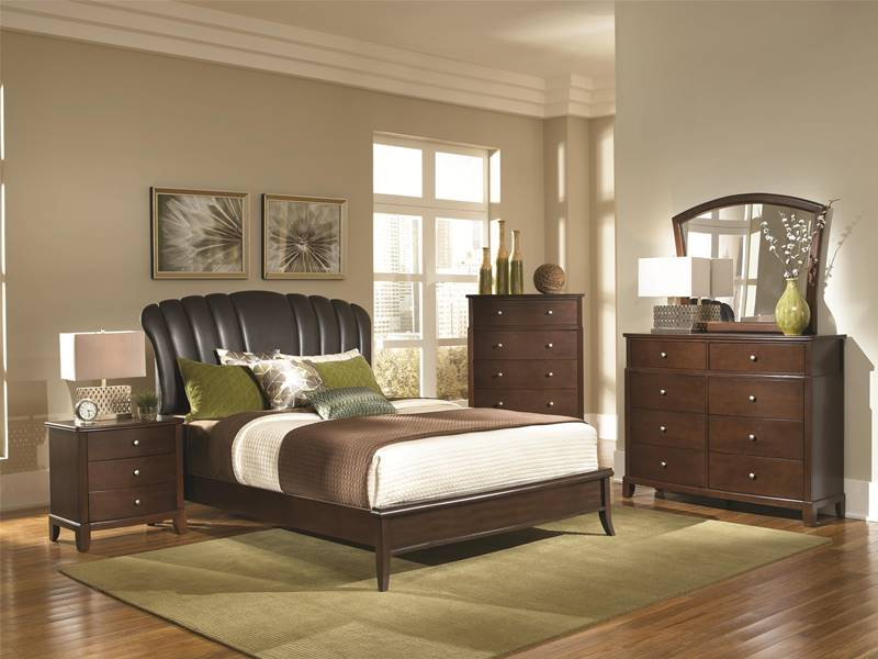 Addley Bedroom Set with Upholstered Headboard