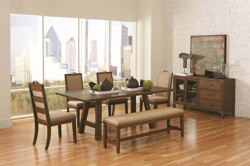Arcadia Dining Room Set with Bench