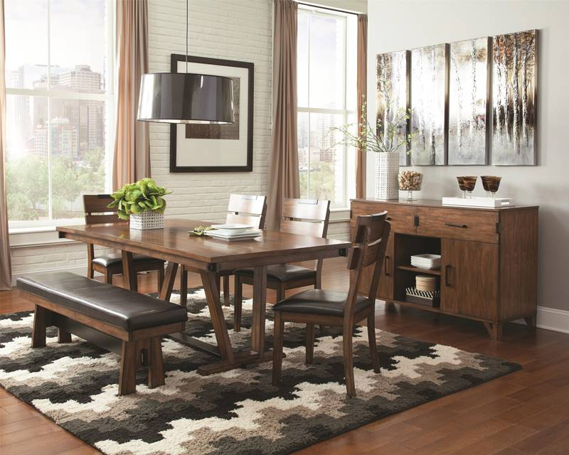 Avalon Dining Table Set with Bench