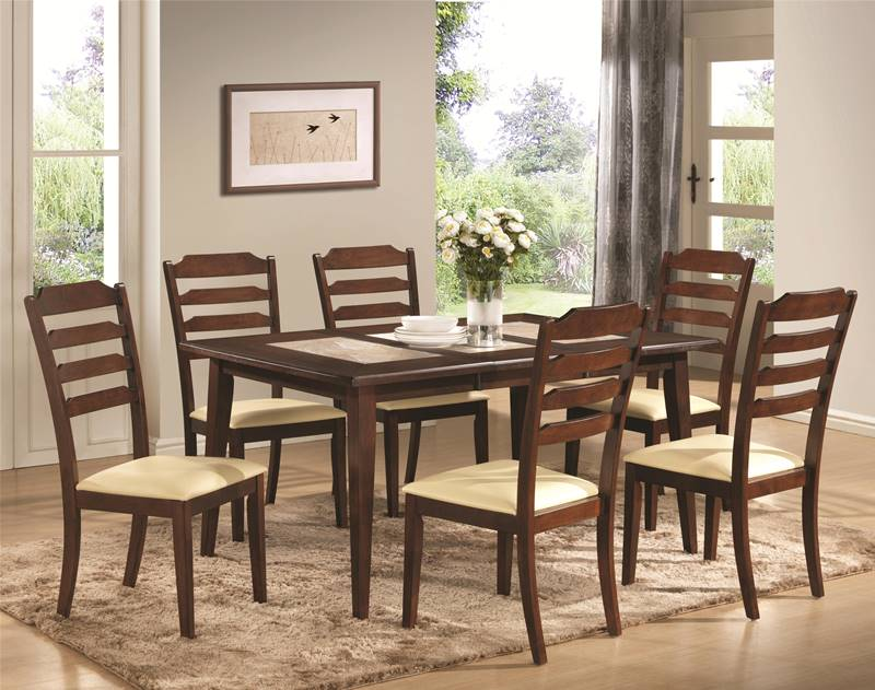 Baker Dining Table Set with Tile Top