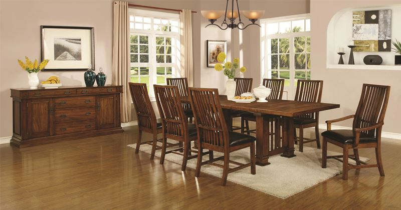 Beaumont Mission Style Dining Table Set
