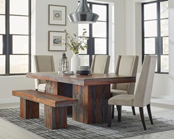 Binghamton Dining Room Set with Bench