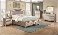 Bling Game Bedroom Set with Storage Bed