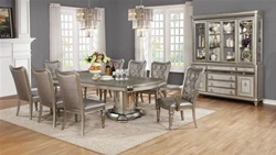 Danette Formal Dining Room Set with Double Pedestal Table