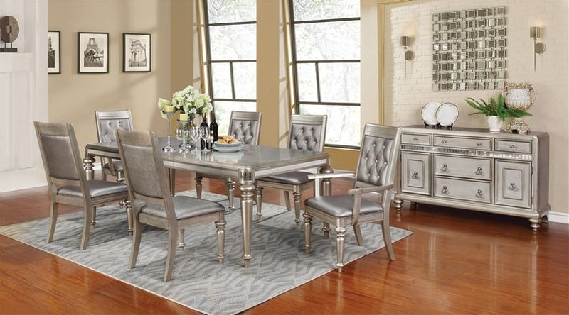 Bling Game Formal Dining Room Set with Leg Table