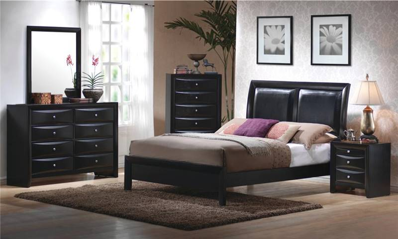 Briana Black Bedroom Set