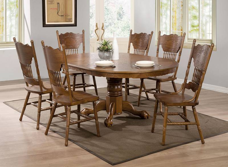 Brooks Nostalgic Round to Oval Country Kitchen Table Set