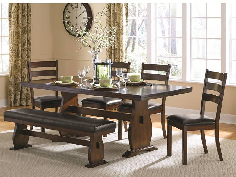 Campbell Kitchen Table Set with Bench