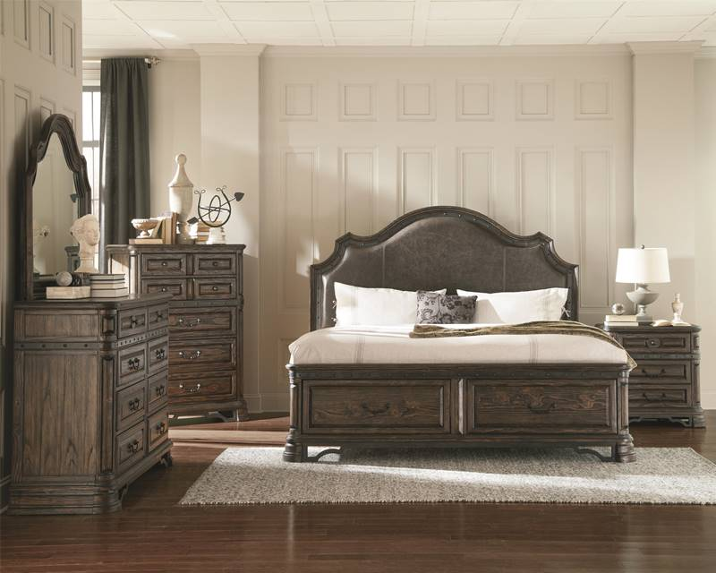 Dallas Designer Furniture Carlsbad Rustic Bedroom Set with Storage Bed