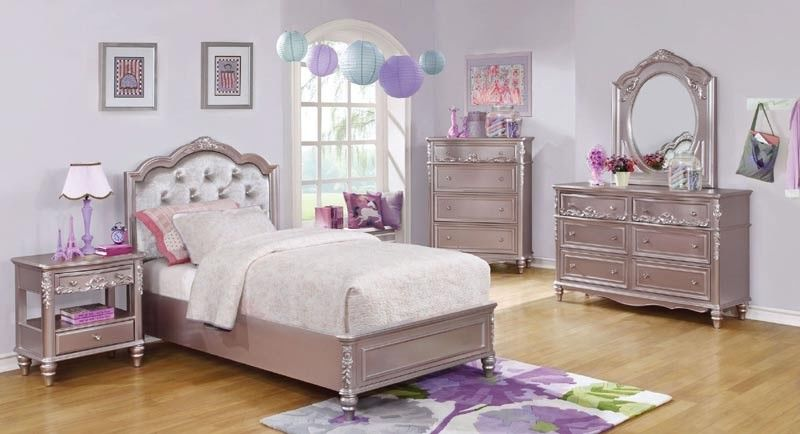 Caroline Youth Bedroom Set in Lilac