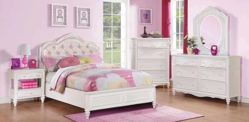 Caroline Youth Bedroom Set in White
