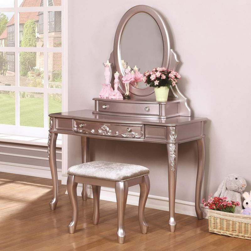 Caroline Youth Bedroom Set with Storage Bed in Lilac