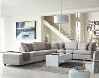 Charlotte Grey Fabric Sectional