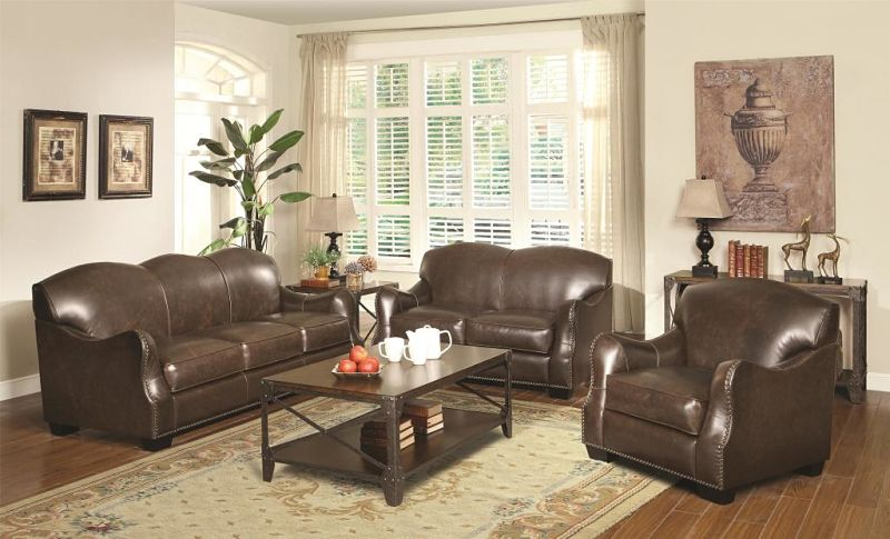 Chesapeake Leather Living Room Set