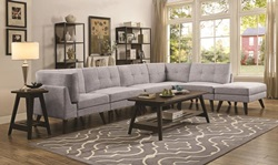 Churchill Sectional Sofa in Grey