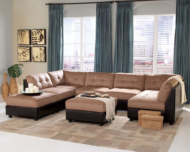 Claude Sectional Sofa in Latte