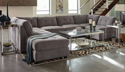 Claude Sectional Sofa in Dove
