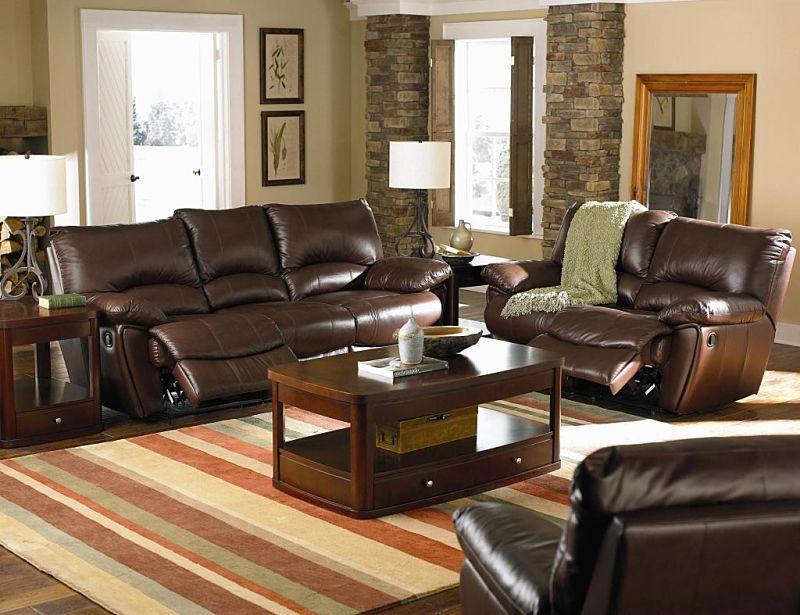 Clifford Reclining Leather Living Room Set