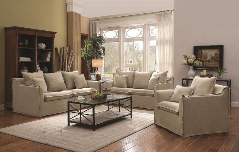 Cooney Living Room Set with Slipcover