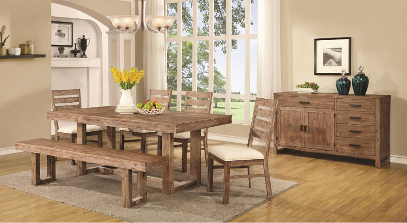 Elmwood Rustic Dining Room Set with Bench