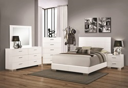 Felicity Glossy White Bedroom Set