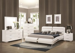 Felicity Glossy White Bedroom Set with Platform Bed