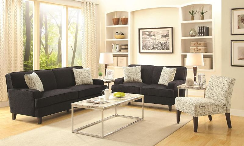 Finley Living Room Set in Graphite