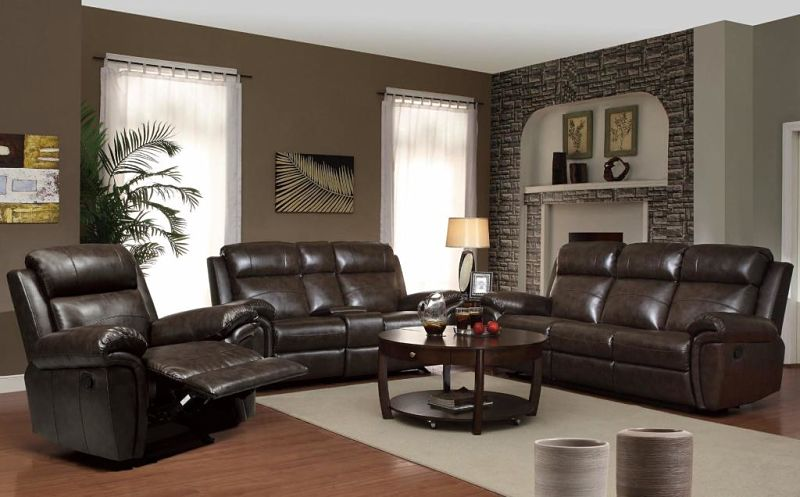 Gideon Reclining Leather Living Room Set