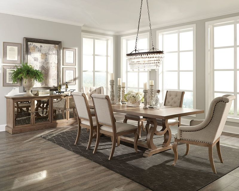 Glen Cove Formal Dining Room Set in Barley Brown