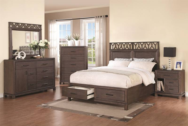 Grayson Bedroom Set with Storage Platform Bed