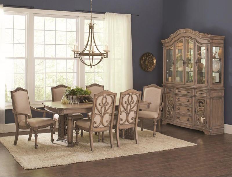 Ilana Formal Dining Room Set in Linen