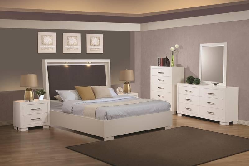 dallas designer furniture zandra bedroom set with