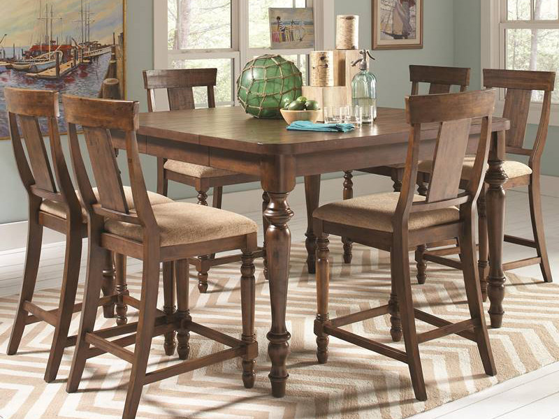Jonas Rustic Kitchen Counter Height Table Set
