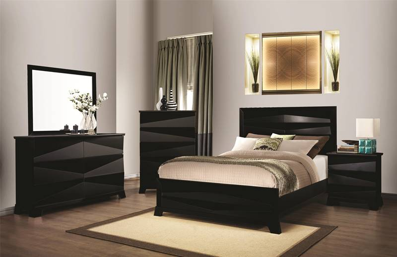 Karolina Black Bedroom Set