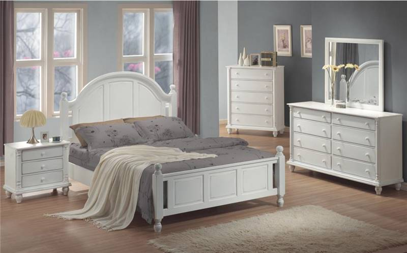 Kayla Cottage White Bedroom Set