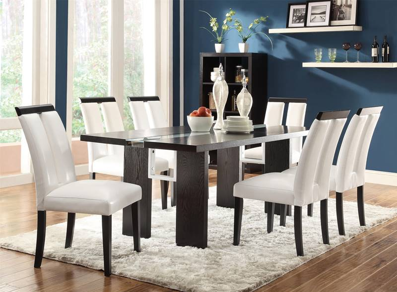 Kenneth Contemporary Dining Room Set with LED Lighting