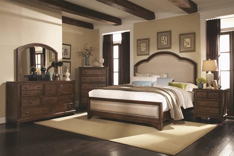 upholstered bedroom sets. Laughton Rustic Bedroom Set with Upholstered Bed Dallas Designer Furniture