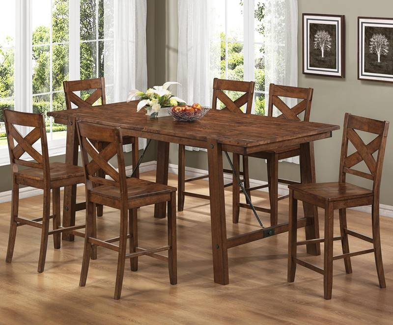 Lawson Counter Height Table Set with Plank Top