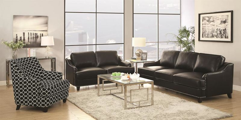 Layton Leather Living Room Set