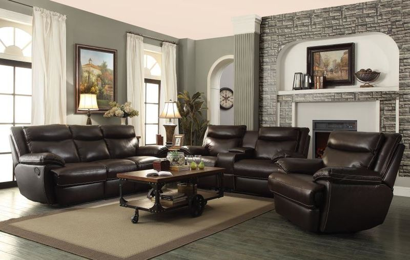 MacPherson Reclining Leather Living Room Set with Power Motion