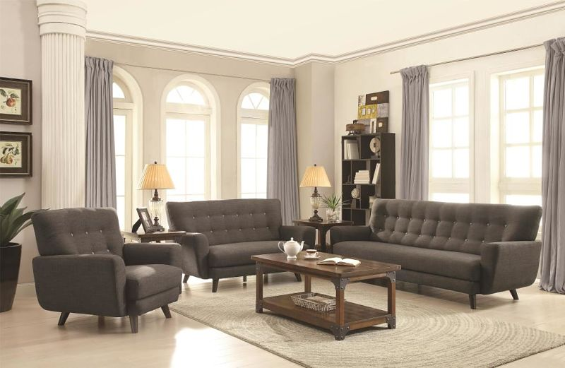 Maguire Living Room Set in Charcoal