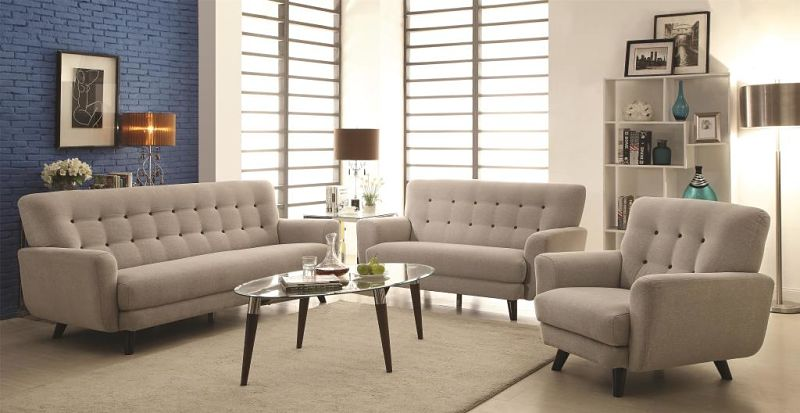 Maguire Living Room Set in Light Grey