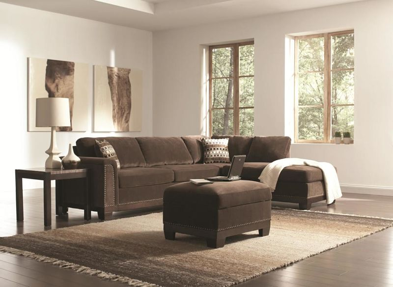 Mason Sectional in Chocolate