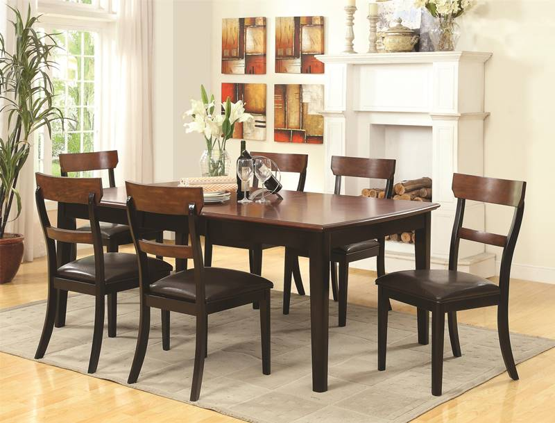 McKay Two Tone Black Kitchen Table Set