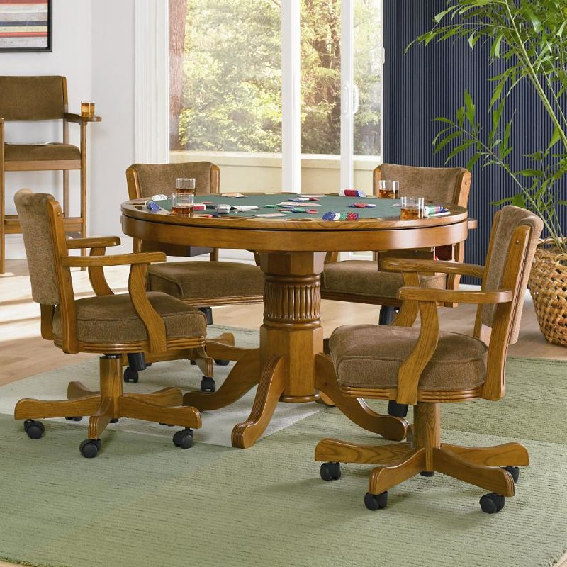 Mitchell Game Table Set in Amber